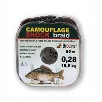BROLINE - Plovoucí pletená návazcová šňůra Camouflage SHOCK Braid 50m