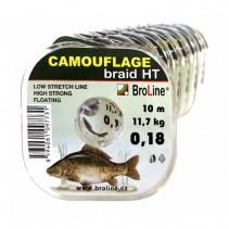 BROLINE - Plovoucí pletená návazcová šňůra Camouflage braid HT 10m