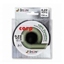 BROLINE - Plovoucí pletená šňůra na kapry Carp 100% Dyneema Zelená 150m