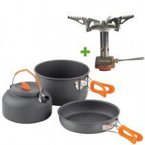 CHUB - 3dílná sada nádobí + Plynový vařič