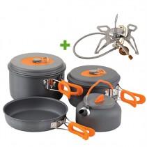 CHUB - 4dílná sada nádobí + Plynový vařič
