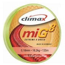 CLIMAX - Pletená šňůra Mig8 Braid Olive SB 135m