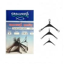 CRALUSSO - Corner Plate Swivel 3ks