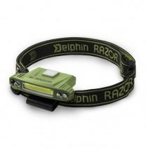 DELPHIN - Čelová lampa RAZOR USB