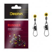 DELPHIN - Feederový běžec s karabinkou RUNNER 10ks