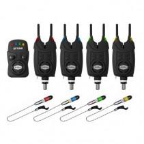 DELPHIN - Sada Signalizátorů 4+1 OPTIMO 9V + 4x Indikátor + 4x Snag Gear