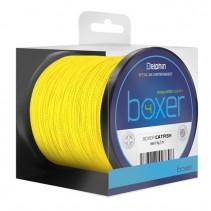 DELPHIN - Pletená šňůra na sumce BOXER fluo žlutá 250m