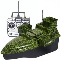 DEVICT - Zakrmovací loď Tanker Triple camo + Boilies ZDARMA!