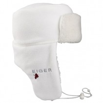 EIGER - Ušanka Fleece Korean Hat Snov White