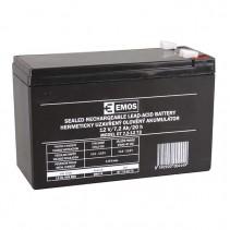EMOS - Bezúdržbový olověný akumulátor 12V 7,2Ah faston 6,3mm
