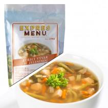 EXPRES MENU - Polévka Kuřecí vývar se zeleninou - 1 porce (300g)