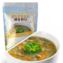 EXPRES MENU - Polévka Hovězí vývar s játrovou rýží - 1 porce
