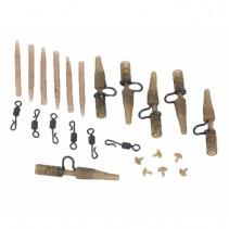 EXTRA CARP - Set závěsek a obratlíků Camou Heavy Lead Clip Set