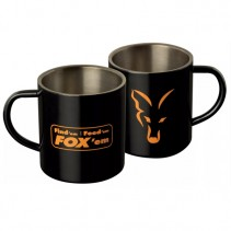 FOX - Nerezový hrnek Stainless Black XL Mug 400ml