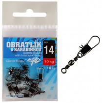 GIANTS FISHING - Obratlík s karabinkou Barrel Swivel with Interlock 10ks