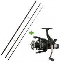 GIANTS FISHING - Prut Distant Carp MX 50 3,6m 3lb + Naviják Luxury RX 6000