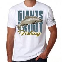 GIANTS FISHING - Tričko pánské bílé Pstruh