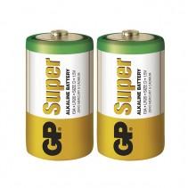 GP - Alkalická velká mono baterie Super D (LR20) 2ks