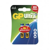 GP BATTERIES - Alkalická baterie GP Ultra Plus AAA (LR03) 2ks