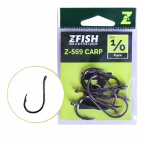ZFISH - Kaprové háčky s očkem a protihrotem Carp Hooks Z-569