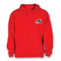HELL-CAT - Mikina klokánek s kapucí červená