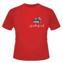 HELL-CAT - Tričko Classic červené