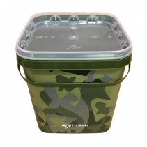BAIT-TECH - Kbelík s víkem Camo Bucket and Lid 5 lit