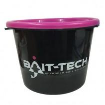 BAIT-TECH - Kbelík s víkem Groundbait Bucket and Lid černý/růžový