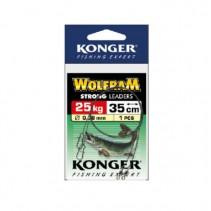 KONGER - Wolframové lanko Wolfram Strong Leaders 25kg 35cm