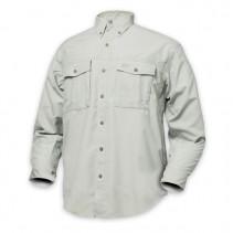 GEOFF ANDERSON - Košile Polybrush cementová dlouhý rukáv