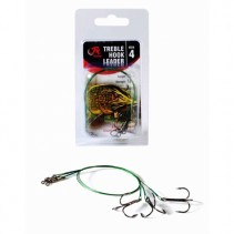 FIL FISHING - Lanko s Trojhákem Treble Hook Leader 3ks