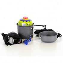 MEVA - Outdoor Set 2 - Vařič, nádoby, příbory, křesadlo