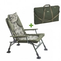 MIVARDI - Křeslo CamoCODE Arm + Transportní taška