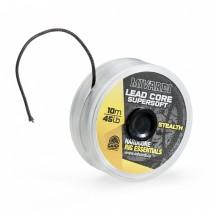 MIVARDI - Olověná šňůrka Lead core SuperSoft - Stealth 45lb 10m