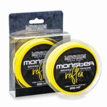 MIVARDI - Žlutá šňůra na sumce Monster Reflex Braid 200m
