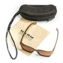 NASH - Dřevěné Brýle Timber Sunglasses - jantarové skla
