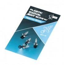 NASH - Plastový držák nástrahy s mikroobratlíkem Plastic Swivel Bait Screw 10ks