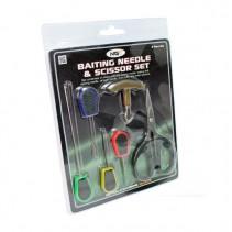 NGT - Jehly + nůžky sada 6ks Baiting Needle & Scissor Set