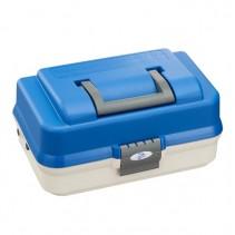 PLASTICA PANARO -  Rybářský kufřík 143/ 2-patrový bílo-modrý