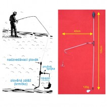 SPORTS - Podvodní bójka 120g 105cm/42cm