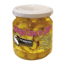 POSEIDON BAITS - MEGA vařená kukuřice v nálevu 220ml - Med