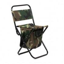SPORTS - Rybářská rozkládací židlička s opěrkou