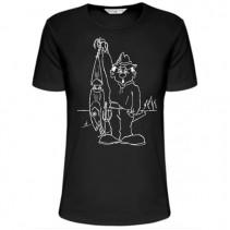 SPORTS - Rybářské tričko vláčkař s woblerem
