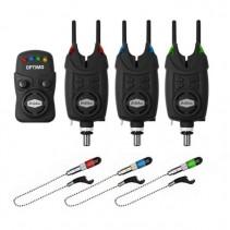 DELPHIN - Sada Signalizátorů 3+1 OPTIMO 9V + 3x Indikátor + 3x Snag Gear