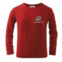 HELL-CAT - Tričko Classic červené s dlouhým rukávem