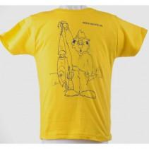SPORTS - Tričko dětské rybář s woblerem žluté