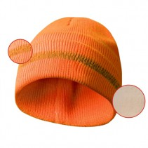 SPORTS - Zateplená čepice s reflexním páskem oranžová