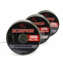 ZFISH - Kaprová návazcová šňůrka Scorpion Sinking Braid 20m
