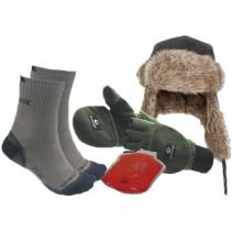 SPORTS - Zimní set Ušanka + Rukavice + Ponožky + Hřejítko